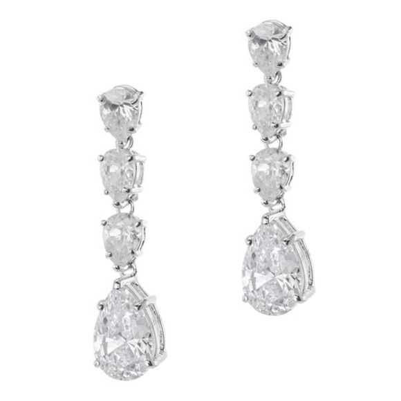 SOLD Kenneth Jay Lane CZ Pear Shape Drop Earring